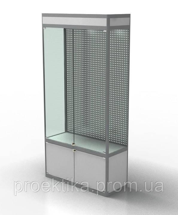 Витрина стеклянная из профиля