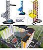 Н-67 метров, г/п 500 кг. Мачтовые подъёмники с выкатной платформой  для подачи стройматериалов. , фото 4