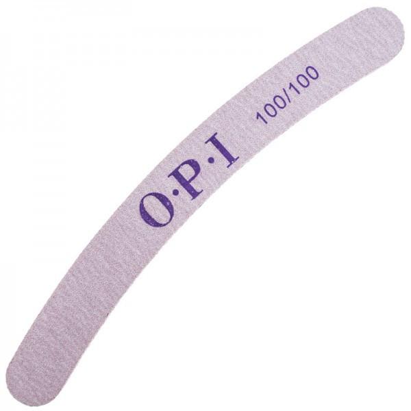 Пилка для ногтей OPI 100/100, полукруг, серая pro