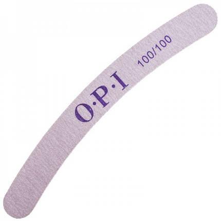 Пилка для ногтей OPI 100/100, полукруг, серая pro, фото 2