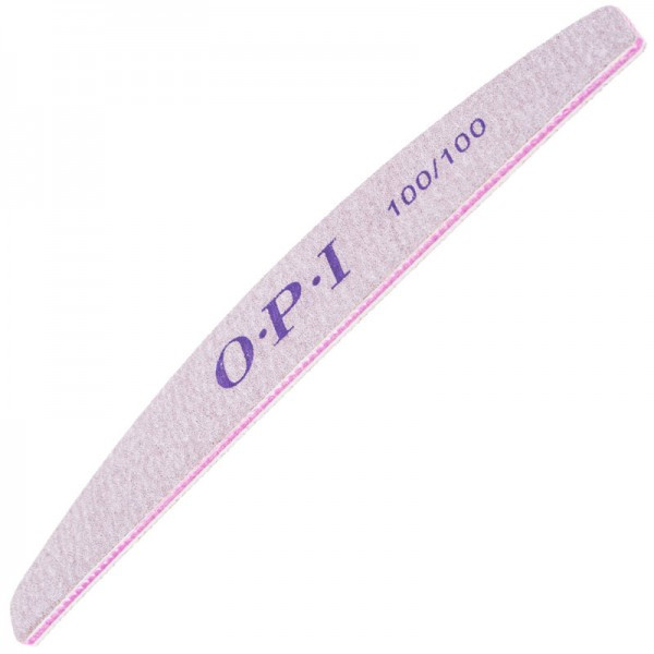 Пилка для ногтей OPI 100/100, лодка, серая pro