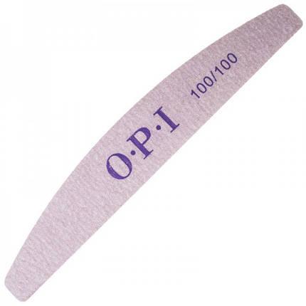 Пилка для ногтей OPI 100/100, лодка, серая pro, фото 2