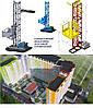 Н-65 метров, г/п 500 кг. Мачтовые подъёмники с выкатной платформой  для подачи стройматериалов. , фото 3