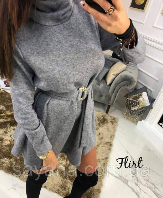 модное платье с поясом
