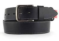 Качественный кожаный мужской ремень высокого качества MASCO 4.5 см Украина (103696) черный