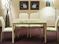 Стол стеклянный Дамар Кремовый 100x60 Damar Krem, фото 1