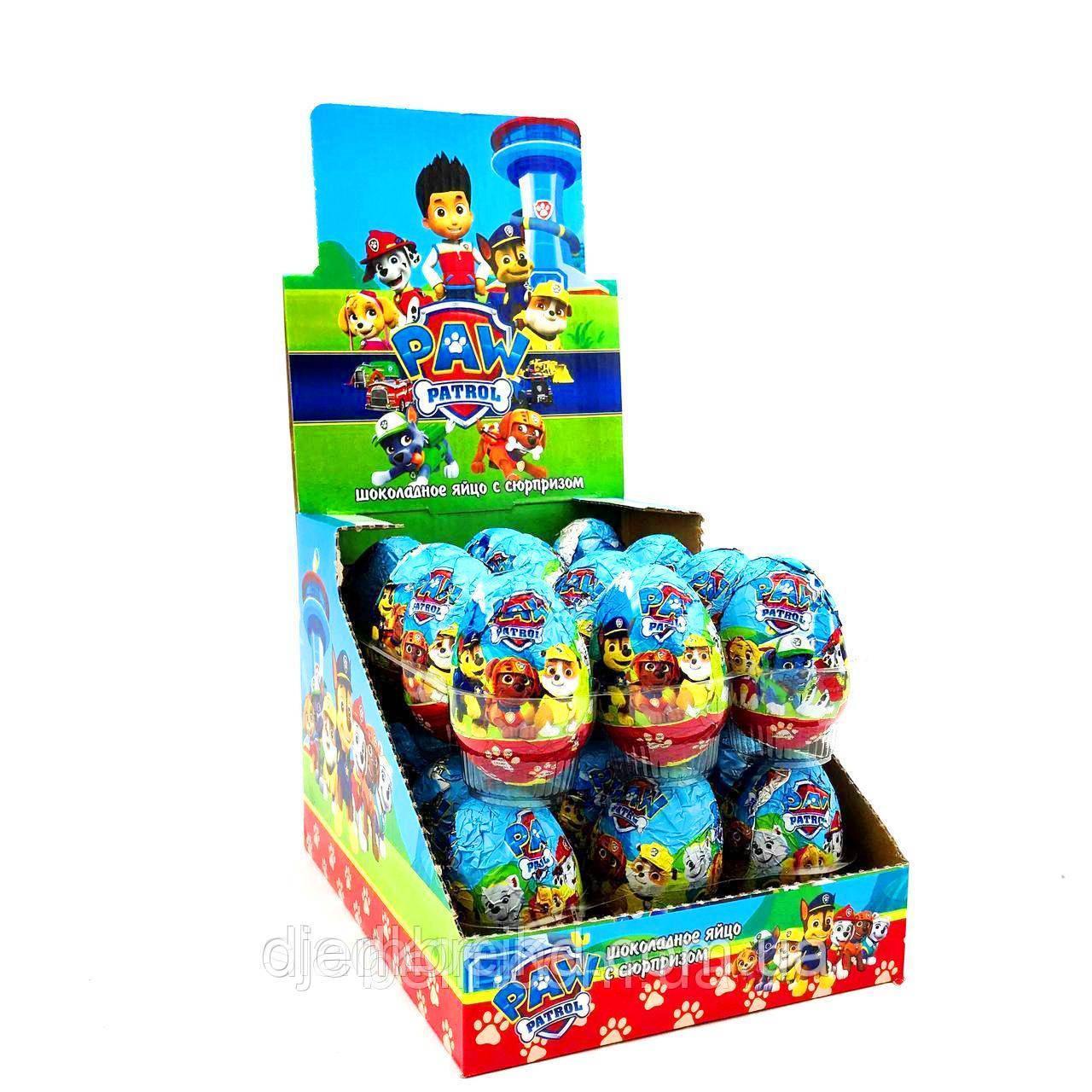 """Шоколадные яйца с сюрпризом """"Щенячий патруль"""", 24 шт, цена 120 грн., купить в Киеве — Prom.ua (ID#876728993)"""