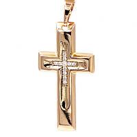 Подвеска Крестик 2,8*1,9 см (Медицинское золото)