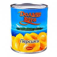 Персики половинками в сиропі Дольче Віта 850 мл