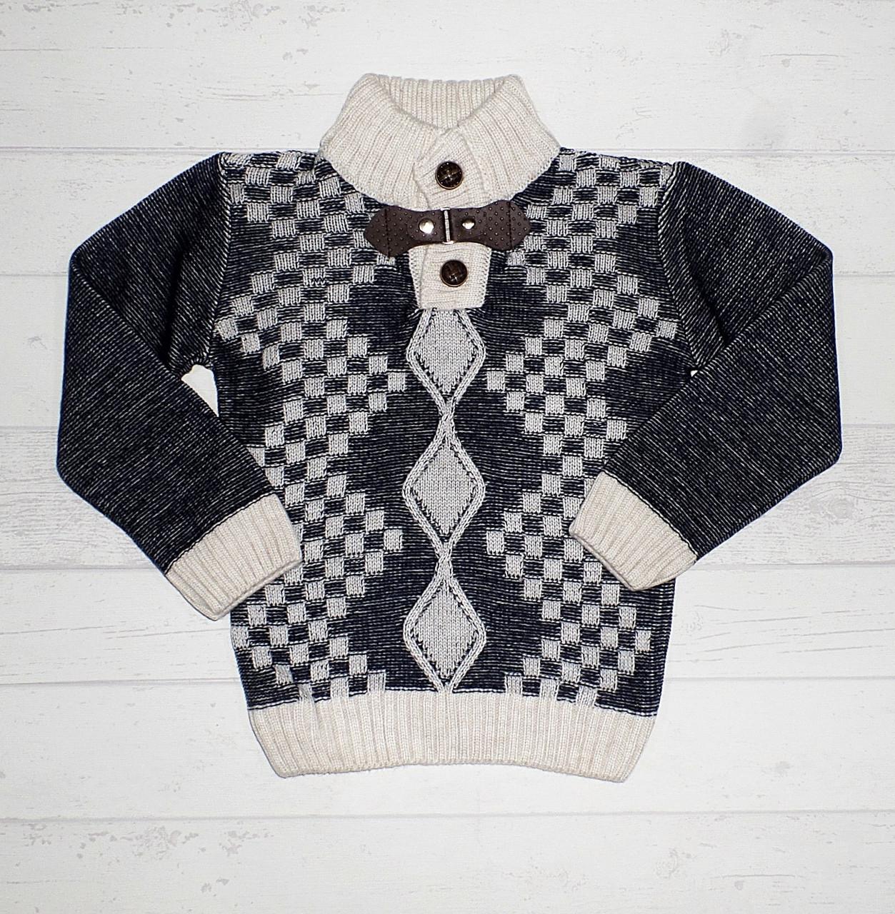 """Детский свитер   для мальчика """" Ромб"""" 1,2 года 5489612730326"""