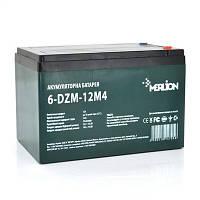 Аккумулятор тяговый 12V 12Ah AGM MERLION 6-DZM-12 M4 (под винтик) 10x10x15см