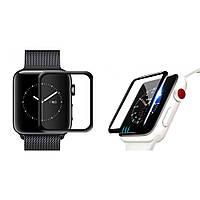 Защитное стекло для Apple Watch 3D Full Glue 38mm ( Полная проклейка)