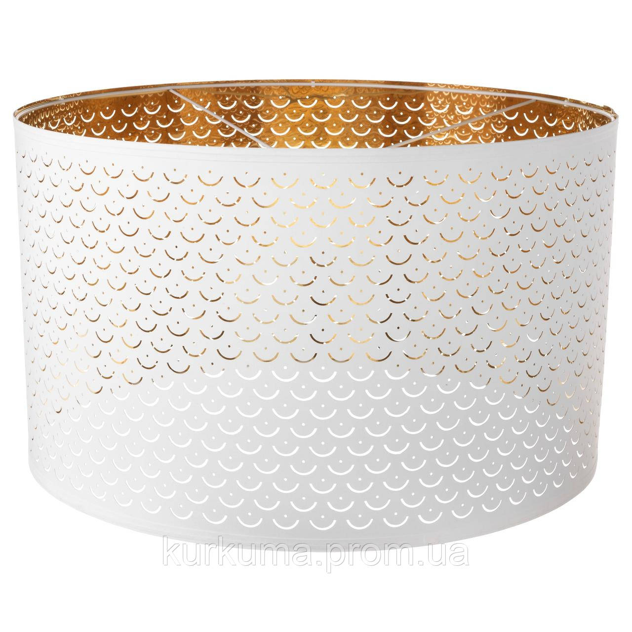 IKEA NYMO Абажур, белый, латунь цвет  (503.408.32)