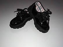 Туфли лаковые детские  черные из еко лака 22-28 р., фото 2