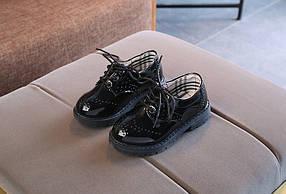 Туфли лаковые детские  черные из еко лака 22-28 р.
