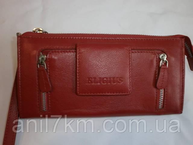 Женский кожаный кошелёк фирмы ELIGIUS