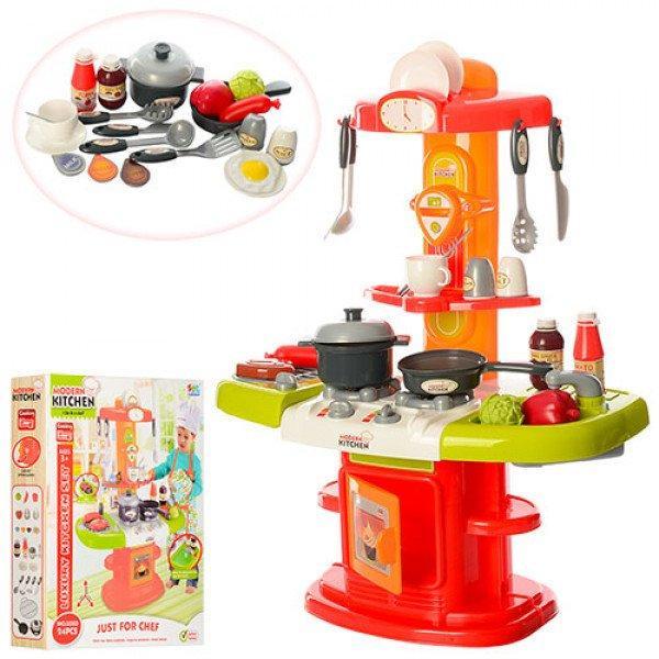 Детская кухня с посудой и продуктами