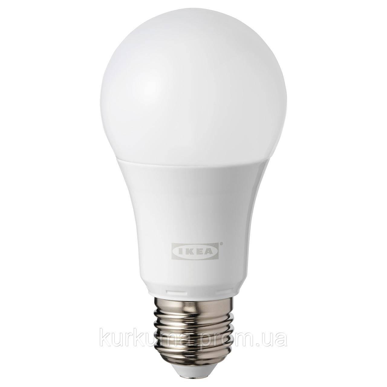 IKEA TRADFRI Светодиодная лампа E27 600 люмен, беспроводная регулировка яркости, цветные и (004.086.12)