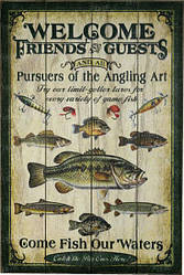 Картина Riversedge Fishing Wood Sign 60*40 см.