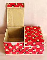 Кофр, двойная крышка на липучках, органайзер, ящик для вещей. Разные цвета