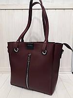Женская сумка ZARA бордовая