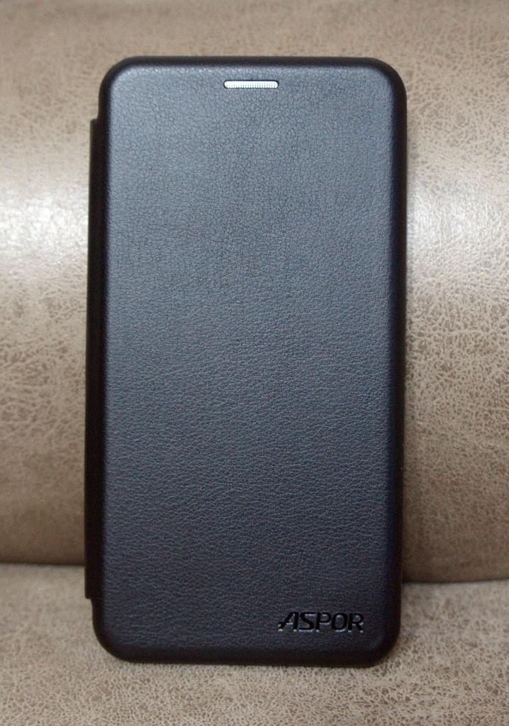 Чехол-книжка для Meizu M6T чёрная, ASPOR