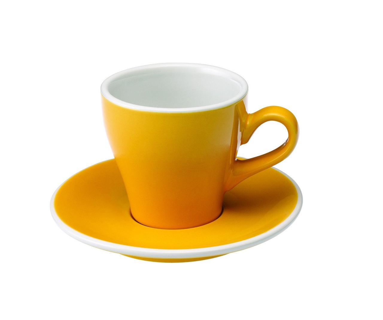 Чашка и блюдце под эспрессо Loveramics Tulip (80 мл  )
