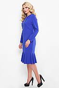 Жіноче плаття приталеного силуету, відрізне по лінії талії Ромі / колір електрик розмір 52-58, фото 2