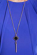 Жіноче плаття приталеного силуету, відрізне по лінії талії Ромі / колір електрик розмір 52-58, фото 3