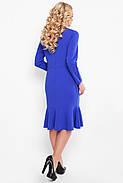 Жіноче плаття приталеного силуету, відрізне по лінії талії Ромі / колір електрик розмір 52-58, фото 4
