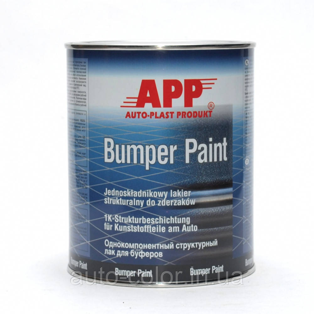 Фарба структурна для бамперів однокомпонентна APP чорна, 1л