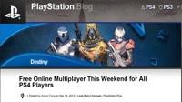 Sony сделает бесплатным доступ к мультиплееру PlayStation 4