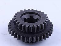 Шестерня рухлива 1/зад передачі Z-6/42 Xingtai 120/220 Діаметр (мм) - 45 Кількість шліців (шт.) - 6 Діаметр