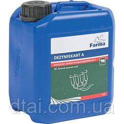 Жидкое щелочное моющее средство-дезинфектор для переработки молока 24 кг канистра DEZYNFEKTANT A Farma Польша
