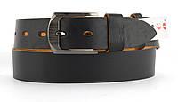 Качественный кожаный мужской ремень высокого качества MASCO 4 см Украина (103660) коричневый