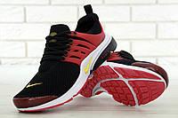 Мужские кроссовки Nike Air Presto. Черно-красные. Сетка. Пена, фото 1