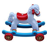 Лошадка качалка с колесами,  для детей (146 В 2)