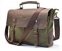 Мужская сумка-портфель кожа+парусина RH-3960-4lx от украинского бренда TARWA