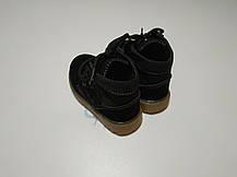 Ботинки детские демисезонные  нат мальчика из эко -замша черные, фото 3