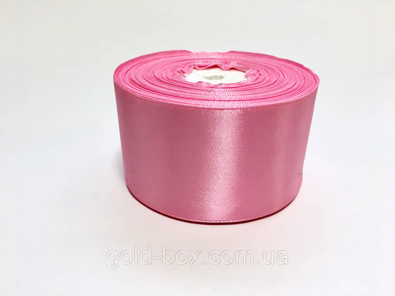 Лента атласная 5,0см / 33 метра «Розовый»