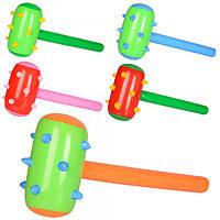 Надувная игрушка MSW 004, молоток, 62-32см, микс цветов, в кульке, , 14-15-1, 5см