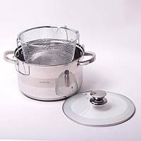 Набор посуды Kamille (кастрюля + дуршлаг) из нержавеющей стали 3 предмета