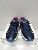 Кроссовки Женские Светящиеся Кеды Geox Фиолетовый Navy Lilac Оригинал  37 Размер