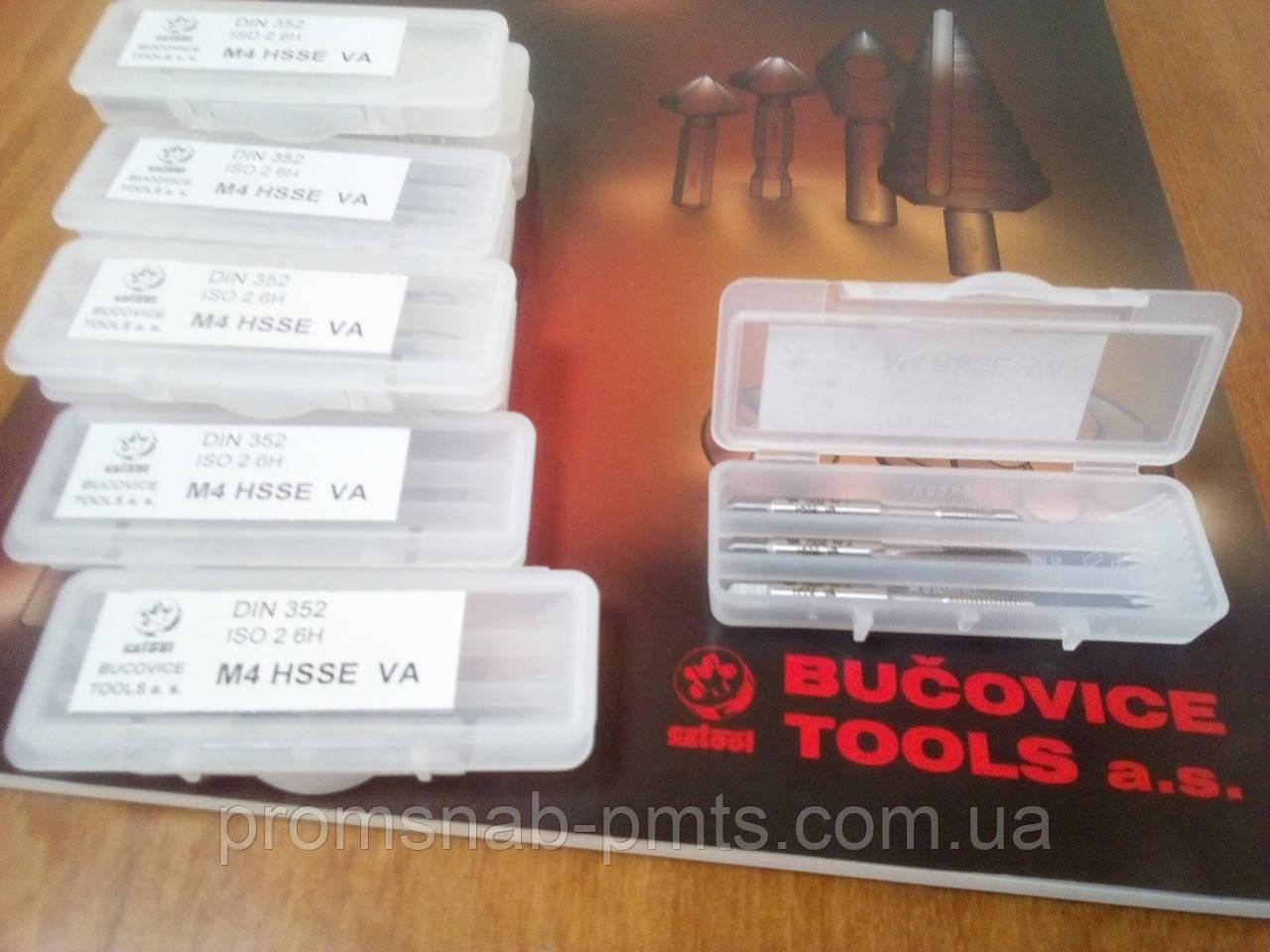 Метчик ручной HSS-E М4х0,7 VA ISO 2 6H DIN 352 комплект из 3-х шт.