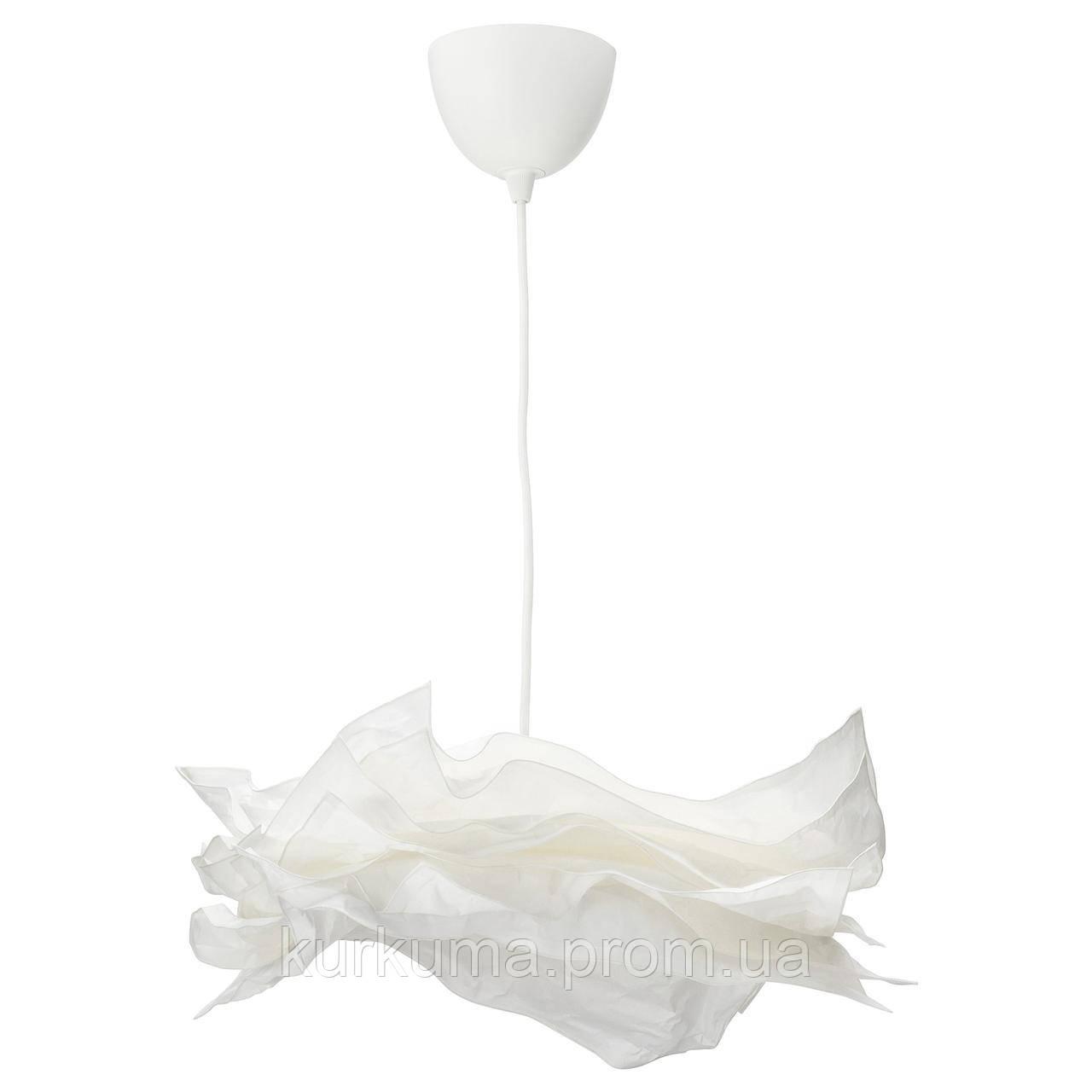IKEA KRUSNING/SEKOND Підвісний світильник, білий, тканина білий (192.919.28)