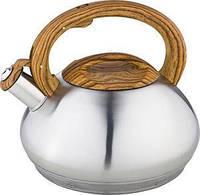 Чайник с пластиковой ручкой из нержавеющей стали со свистком 3 л Kamille