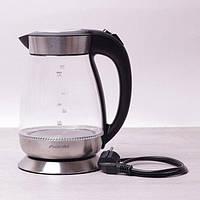 Чайник 1.7л электрический с синей LED подсветкой