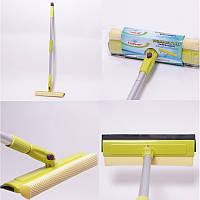 Швабра для окон с губкой и телескопической ручкой 135x20 см Valsar