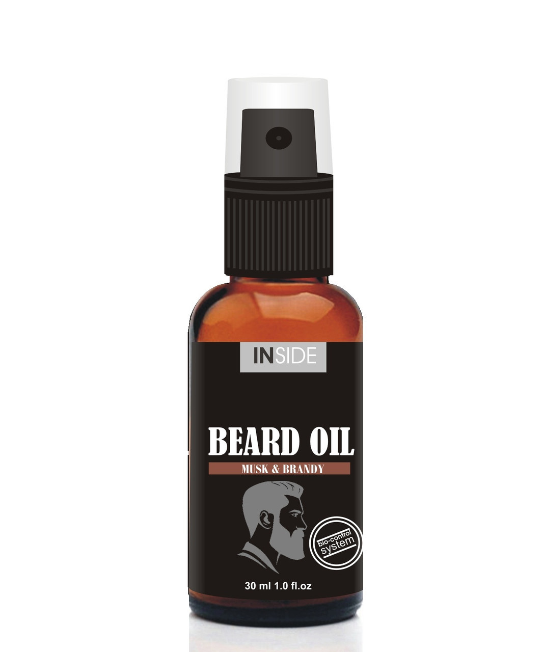 Масло для бороды с феромонами Inside Beard Oil Musk and Brandy