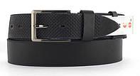 Качественный кожаный мужской ремень высокого качества MASCO 4 см Украина (103707) черный